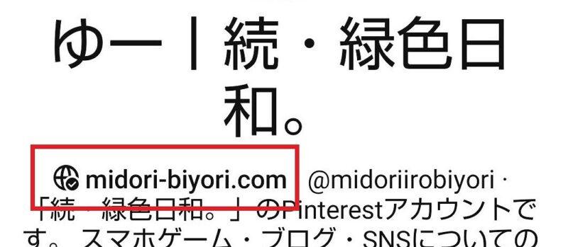 Pinterest・ドメイン認証の確認