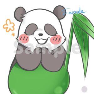 ココナラ・照れ顔パンダSample